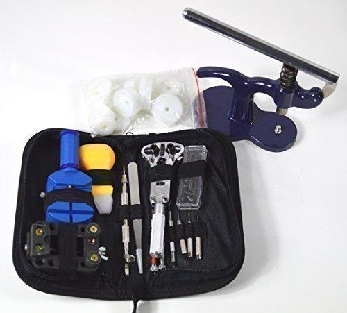 Uhrenwerkzeug Uhrmacherwerkzeug Set 43 Teile Gehäuseschliesser Set Uhr Werkzeug Tasche