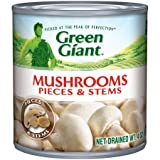 Green Giant Mushrooms Pieces & Stems, 4oz (Pack of 3)
