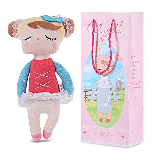 MeToo Sweet Cartoon Animal Design Stuffed Babies Plush Toy Doll Kids Birthday 13 Inches (Red Ballerina - 13 Inch Ballerina