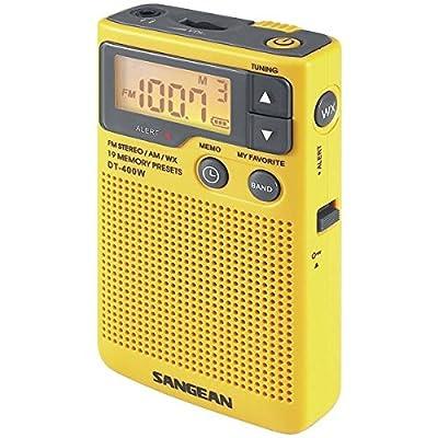 Sangean Dt-400w Digital Am/fm Pocket Radio With Weather Alert from SANGEAN