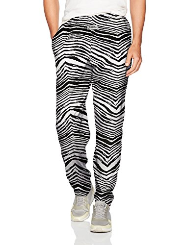 Zubaz Men's Classic Zebra Printed Athletic Lounge Pants, for sale  Delivered anywhere in Canada