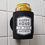 Happy Hour in The Shower - Shower Beer Holder for in Shower Use, Keeps Beer Cold and Hands Free
