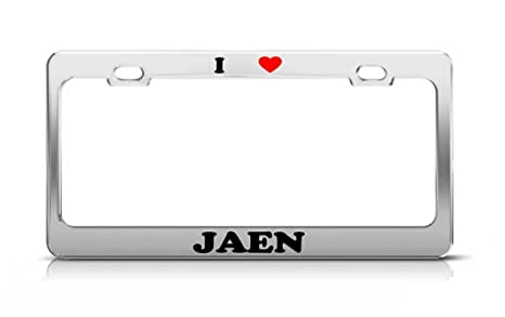 Amazon.com: Envelope I HEART JAEN Spain Metal Auto License ...