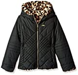 #10: Pacific Trail Girls' Quilted Jacket Reversible to Jungle Cat Faux Fur