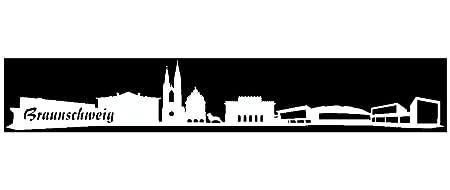 Plot4u Aufkleber Braunschweig Skyline Autoaufkleber In 7 Grossen Und