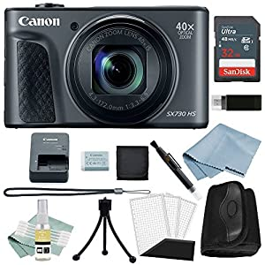 Canon Powershot SX730 HS Bundle (Black) + Basic Accessory Kit - Including Everything You Need to Get Started
