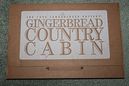 The 1996 Longaberger Pottery Gingerbread Country Cabin Mold