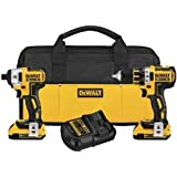 DEWALT DCK281D2 20V Max XR Lithium Ion Brushless Compact Drill/Driver & Impact Driver Combo Kit
