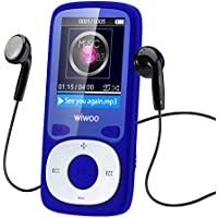 wiwoo B3 WiWoo 16GB Portable MP3 MP4 Player With Fm Radio, Lossless Music Player With Adjustable Armband For Running For Kids, Expandable Up to 128GB Micro SD card ( Blue )
