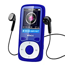 MP3 MP4 Player 16GB With Fm Radio , Portable Music Player With Armband For Running Jogging Sport , Expandable Up to 64GB ( Blue )