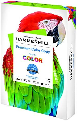 Hammermill Printer Paper, Premium Color 28 lb Copy Paper, 11 x 17 - 1 Ream (500 Sheets) - 100 Bright, Made in america
