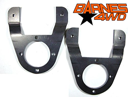 (GM 14 BOLT DISC FULL FLOAT BRAKE CALIPER ADAPTER BRACKET PAIR SINGLE REAR WHEEL)