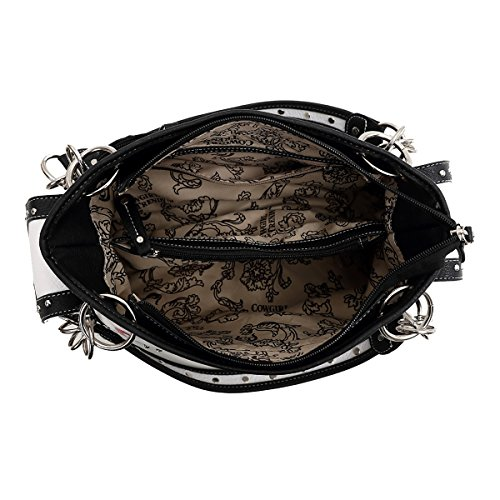 Western Dragonfly Wallet Double and bag Zip Around black Bag ArCgWrp