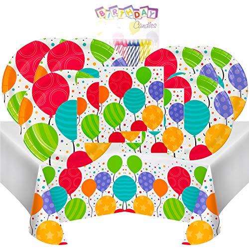 Shimmering Balloons Themed Party Pack – Includes 24 9