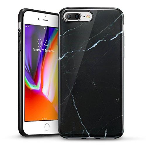 ESR iPhone 8 Plus Case, iPhone 8 Plus Marble Case, Slim Soft Flexible TPU Marble Pattern Cover for The iPhone 8 Plus/7 Plus(Black Sierra)