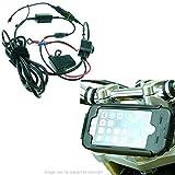 BuyBits 20.5-24.5mm Bike Stem Mount High Power Hardwire & TiGRA Case Bundle for iPhone 6