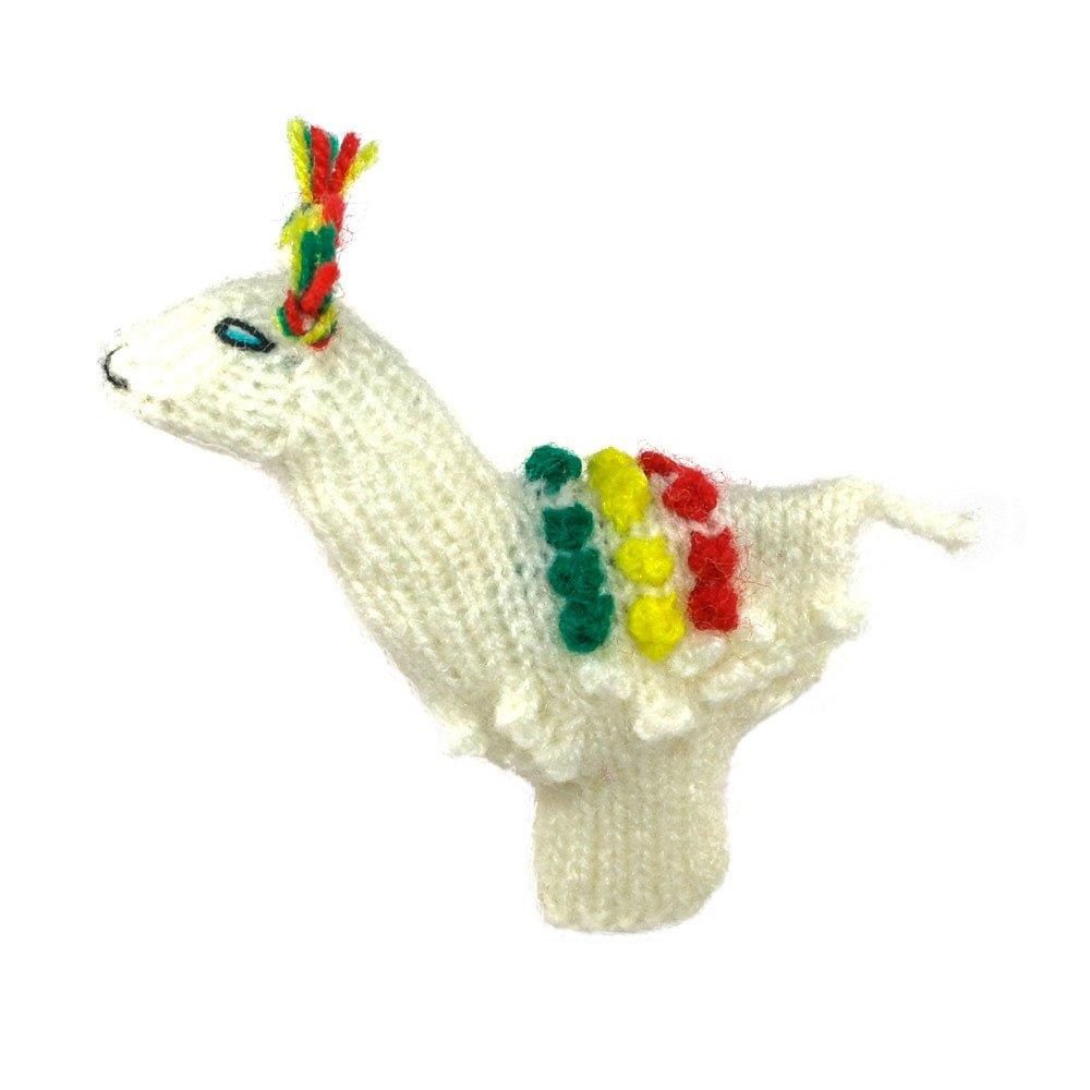 Fingerpuppe Lama Kasperltheater Spielzeug zum Spielen und Lernen handgestrickt aus weicher Wolle für Baby und Kinder Willy' s Manufaktur FP 8095