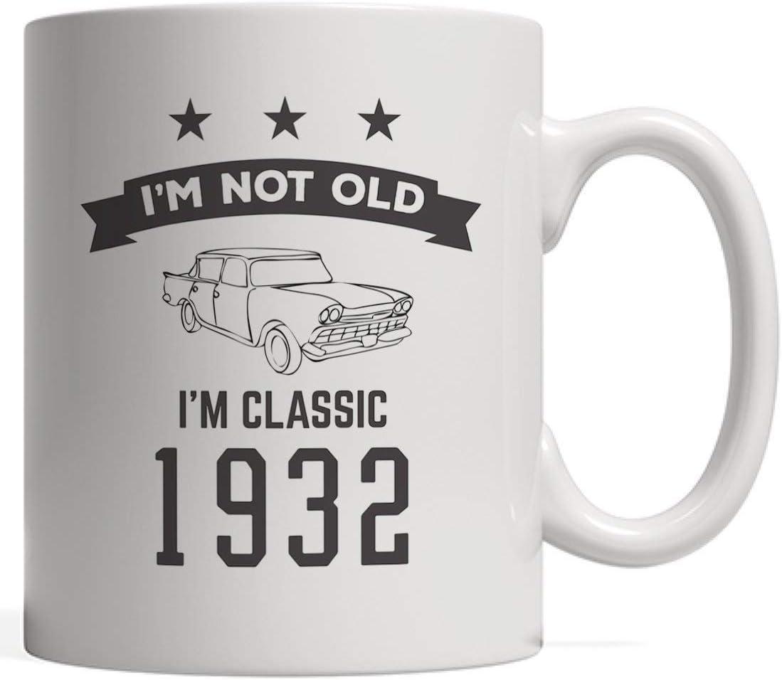 No soy viejo, soy una taza clásica de cumpleaños de 1932: divertido regalo de cumpleaños número 86 para una persona de ochenta y seis años en su ochenta y un sexto aniversario