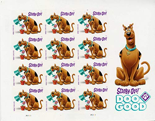 Scooby-Doo! 12 First-Class Forever Stamps - Stamp Postage Dog