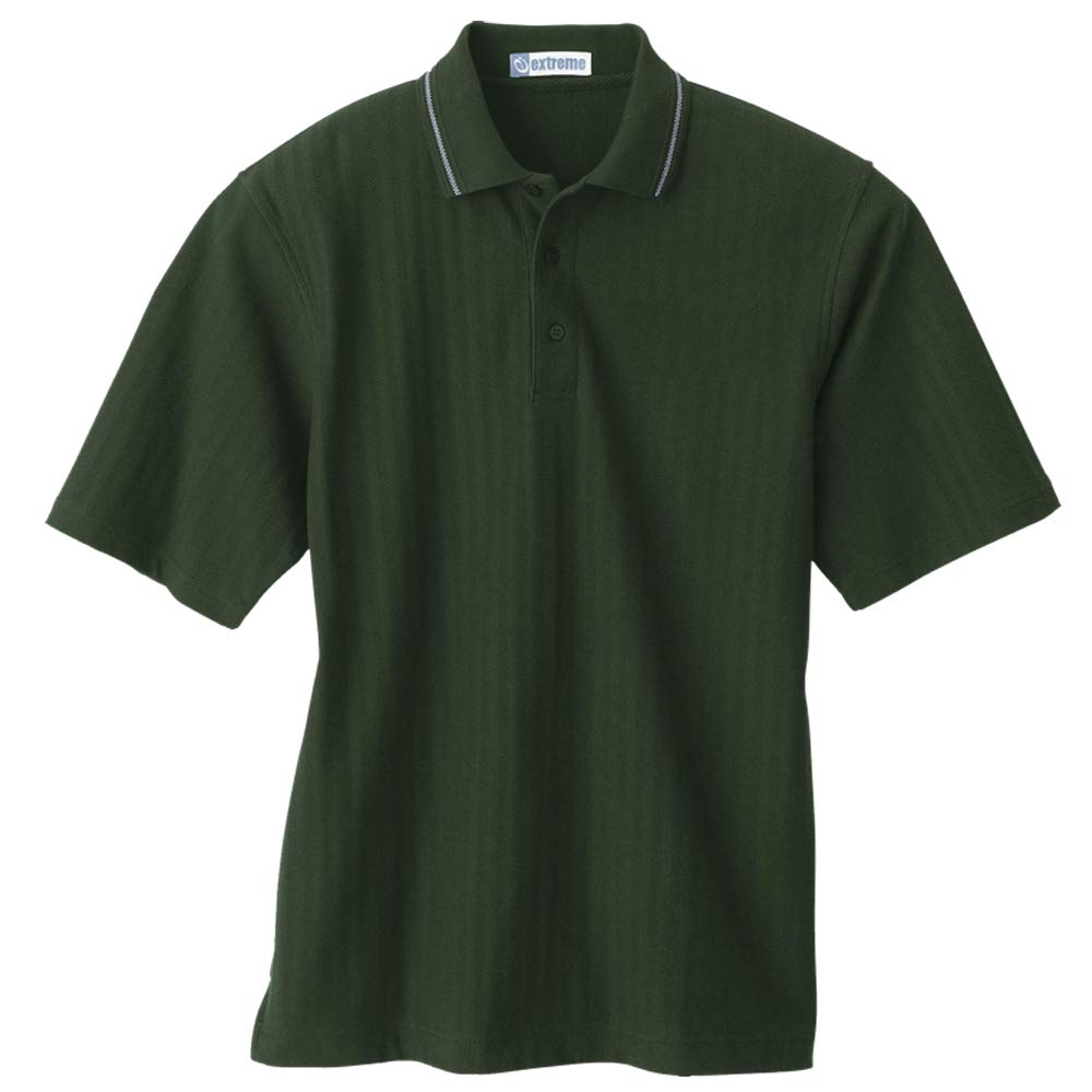 LogoUp Mens Textured Polo
