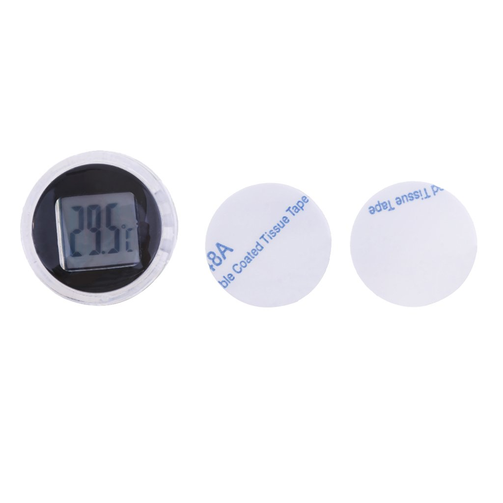 MagiDeal Motorcycle Bike Electronic Temperature Meter Gauge Mini Digital Thermometer - Black by Unknown
