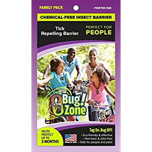 0Bug!Zone Tick Barrier Tags, Family Pack 90