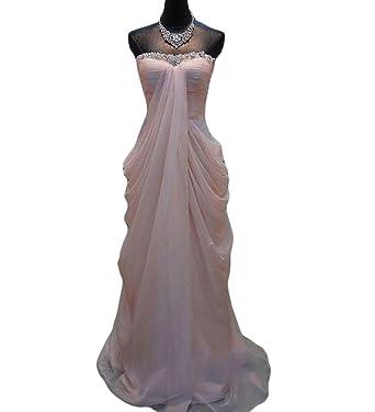 VikDressy Beaded Ruffles Pregnant Prom Dress Strapless Chiffon ...