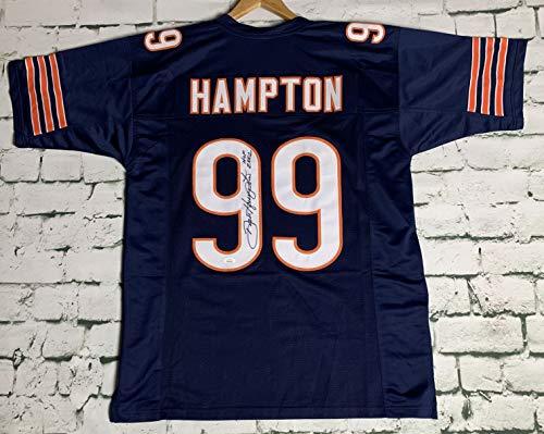 Dan Hampton Signed Autographed 'HOF 99' Chicago Bears Football Jersey - JSA COA
