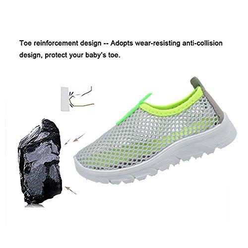 CIOR Kids Slip-on Breathable Sneakers For Running Beach Toddler / Little Kid,D110,Grey?36 4