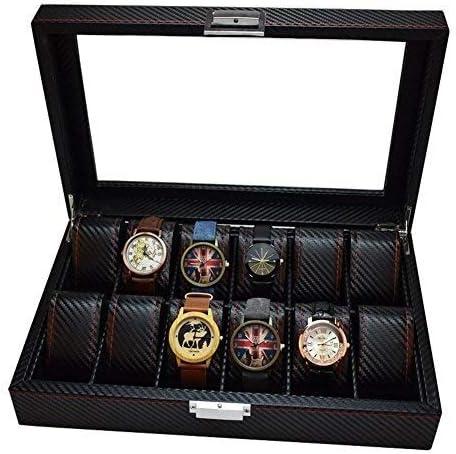 Caja for Guardar Relojes, Lux Caja de Reloj Tapa y Cerradura de ...