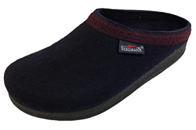 Men's Wool Clog with Poly Sole Navy