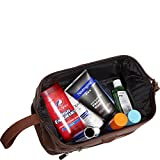 Leather Toiletry Bag - Black