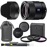 Sony Sonnar T FE 55mm f/1.8 ZA Full Frame Lens with AOM Pro Kit. Includes: UV Filter, Circular Polarizing Filter, Fluorescent Day Filter, Sony Lens Hood, Front & Rear Caps - International Version