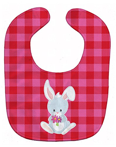 Caroline's Treasures Bunny Rabbit Baby Bib, Multicolor, Large