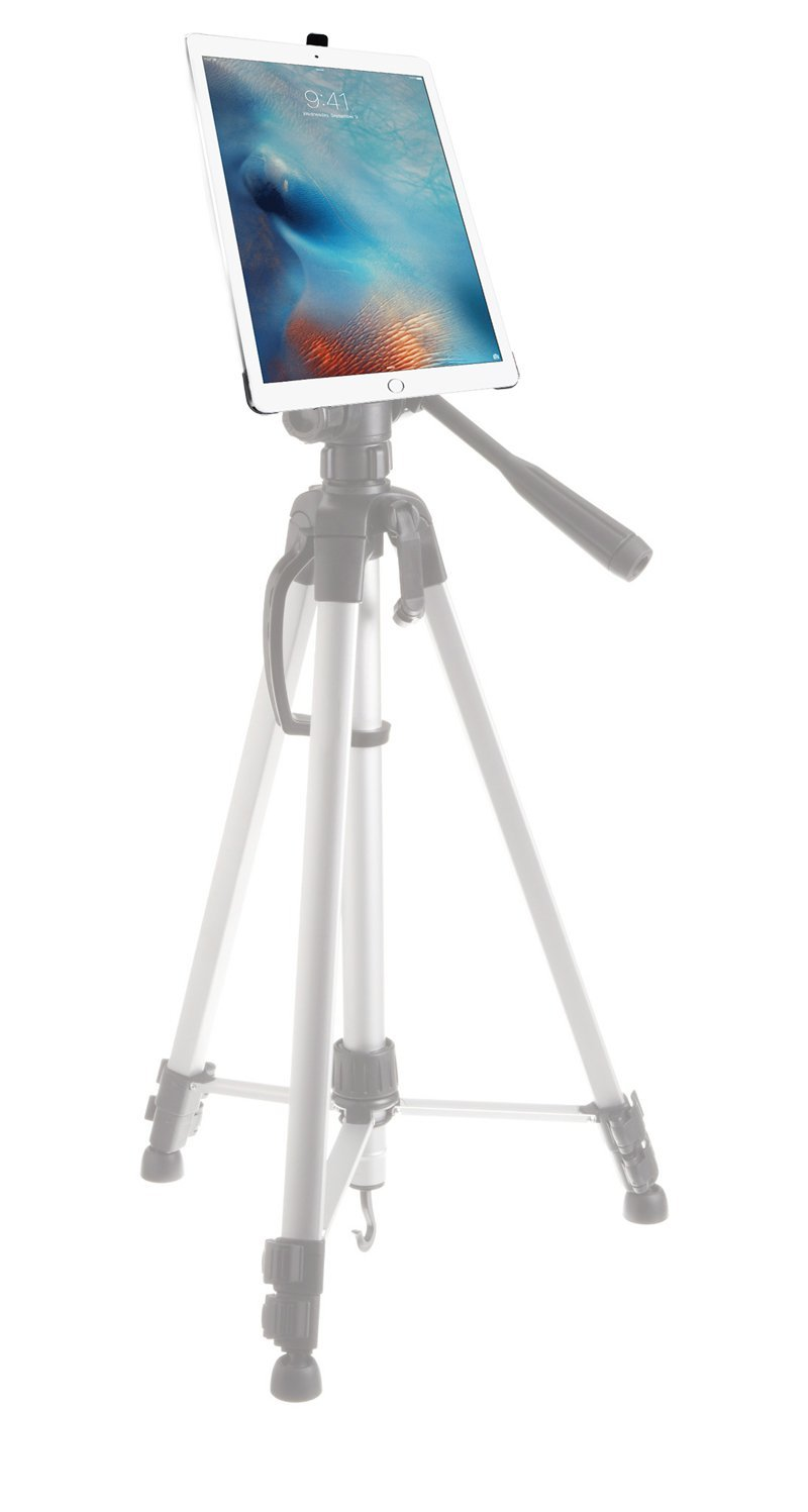 iShot G8 Pro iPad Pro 12.9 Tripod Mount Case - Securely Mount Your iPad Pro to Any 1/4 inch Thread Standard Camera Tripod, Monopod, Mic Stand or Music Stand - Compatible with iPad Pro 12.9 inch Only