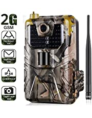 DishyKooker Outdoor Camera 20MP 1080P Wildlife Trail Camera Photo Traps Night Vision 2G SMS MMS SMTP Email Cellular Cameras HC900M Surveillance