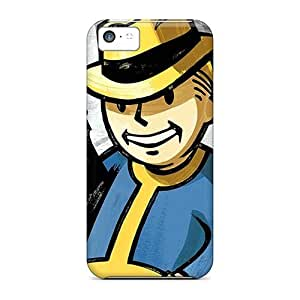 Great Hard Cell-phone Case For Iphone 5c With Unique Design Lifelike Vault Boy Series IanJoeyPatricia