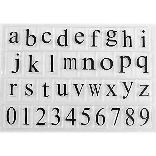 MaGuo Number and Letter Clear Stamps for Paper Craft and DIY - Stamp Big Letter