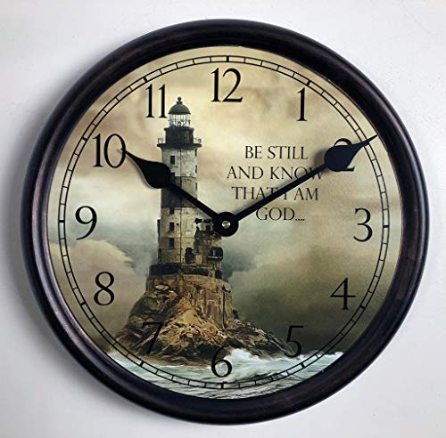 Lighthouse 2 Wall Clock, Available in 8 Sizes, Most Sizes Ship The Next Business Day,
