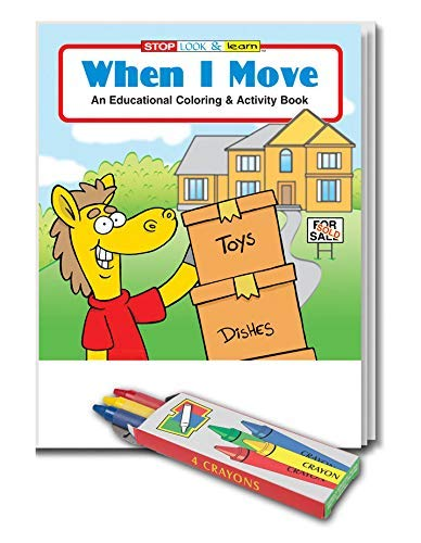 Amazon.com: 25 Pack - When I Move - Kids Educational Coloring and ...