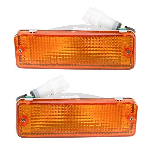 Side Marker Parking Turn Signal Corner Lights Pair Set for 84-89 Toyota Pickup