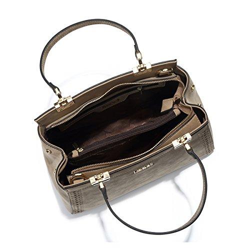 Kadell évider à conçu en Doctor Matte Purse Noir dames à cuir Kaki main Sac pour bandoulière Sacs rv1wCqSr
