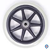 Pivit Replacement Wheels For Walkers Rollators & Wheelchairs | 6 Inches | 2 Pack | Large Rubber Sport Wheel Upgrade Kit Smoothly Roll Over All Surfaces | Add Extra Stability, Security & Smooth Rolling