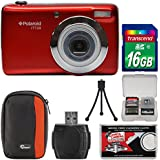Polaroid iTT28 20MP 20x Zoom Digital Camera (Red) with 16GB Card + Case + Tripod + Kit