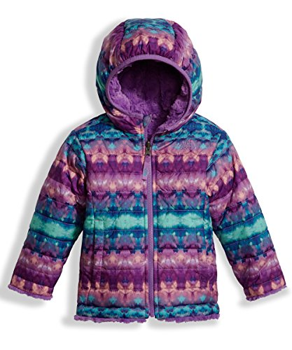 The North Face Toddler Girl's Reversible Mossbud Swirl Jacket - Algiers Blue Fair Isle Print - 2T (Past Season) by THE NORTH FACE