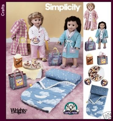 Read Online Simplicity 5224 - 18-inch Doll Clothes - Patterns for Sleepwear and Accessories (Simplicity Crafts) PDF