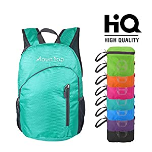 Lightweight Foldable Packable Durable Travel Hiking Backpacks Daypacks 20L (Teal)