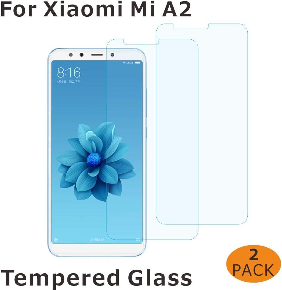 FMPC [2-Pack Protector Pantalla Xiaomi Mi A2, Cristal Vidrio ...