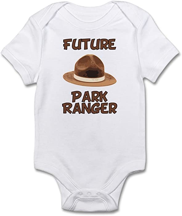 644562c7aa7 CafePress Future Park Ranger Cute Infant Bodysuit Baby Romper Cloud White