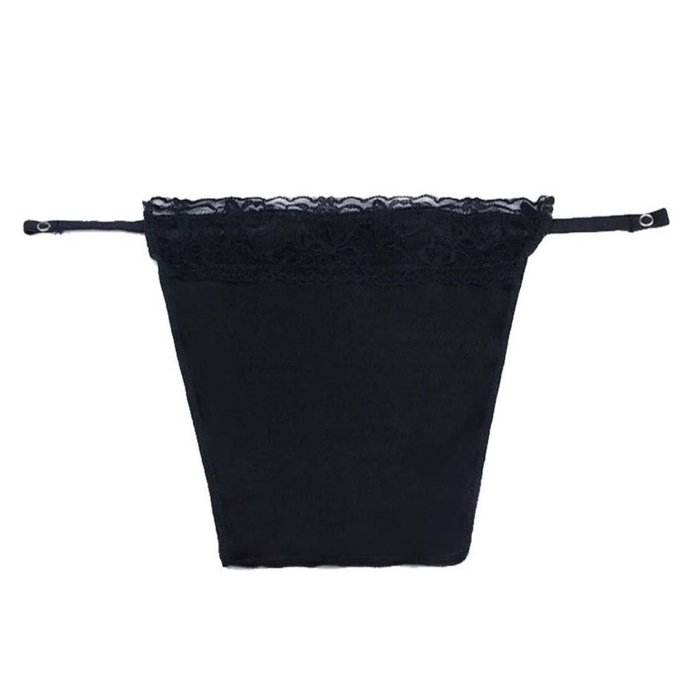 Flyou 8pcs Lady Lace Clip-on Mock Camisole Bra Insert Overlay Modesty Panel